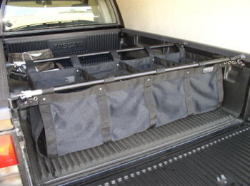 cargo catch truck bed organizer the cargo catch truck bed organizer holds groceries camping equipment luggage supplies and almost any other
